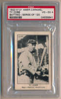 1922 E121 Series 120 10 Ty Cobb (batting) PSA 4