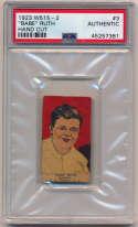 1923 W515-2  Ruth PSA Authentic