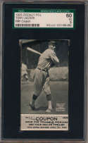 1925 Zeenut  Tony Lazzeri (w/coupon!) SGC 5