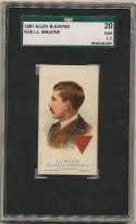 1887 N28 Allen & Ginter  Malone (Billiards) SGC 1.5