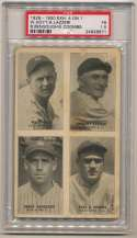 1929 Exhibit 9 Bengough, Combs, Hoyt, Lazzeri PSA 1.5