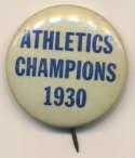 1930 Pin  Philadelphia As World Series Pin Ex-Mt/NM