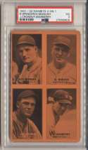 1931 Exhibit 17 Cronin, Manush, Marberry, Spencer PSA 3