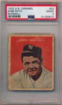1932 U.S. Caramel 32 Babe Ruth PSA 2