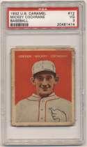 1932 U.S. Caramel 12 Mickey Cochrane PSA 3