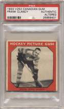 1933 V252 Canadian Gum  King Clancy PSA Authentic
