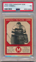 1933 V252 Canadian Gum 14 Alex Connell PSA 1