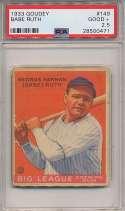 1933 Goudey 149 Babe Ruth PSA 2.5