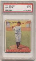 1933 Goudey 144 Ruth PSA 3