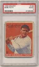 1933 Goudey 149 Ruth PSA 2
