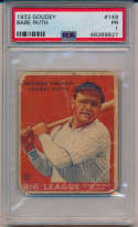 1933 Goudey 149 Babe Ruth PSA 1
