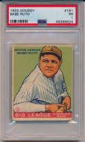 1933 Goudey 181 Babe Ruth PSA 1