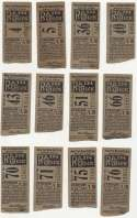 1933 Ticket  Collection of 12 different 1933 NY Giants tickets VG-Ex