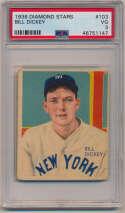 1934 Diamond Stars 103 Dickey PSA 3