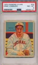 1934 Diamond Star 36.2 Ernie Lombardi PSA 8