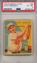 1934 Diamond Star 66 Medwick PSA 6