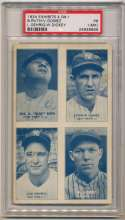 1934 Exhibit 11 Dickey, Gehrig, Gomez, Ruth PSA 1 mk