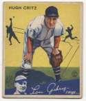1934 Goudey 17 Critz VG+