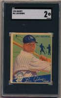 1934 Goudey 61 Lou Gehrig SGC 2