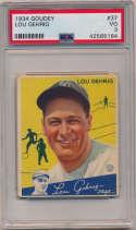 1934 Goudey 37 Lou Gehrig PSA 3