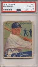 1934 Goudey 61 Lou Gehrig PSA 4