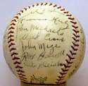 1935 Rochester Red Wings  Team Ball w/Johnny Mize 9 JSA LOA