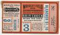 1935 Ticket  World Series Game 3 VG mk