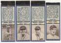1936 Diamond Matchbook Cubs  Complete Set (blue) Ex-Mt