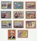 1939 HOF Centennial Stamps  11 different scenes w/Bulkeley Ex-Mt/NM
