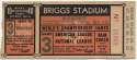1940 Ticket  World Series Game 3 VG