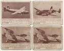 1940 Zoom Airplanes  Collection of 89 Cards Poor-Good