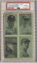 1931 Exhibit 11 Bluege, Judge, Myer, Rice PSA 2.5