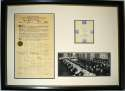 Document  Babe Ruth/Others Signed 1941 50th Anniversary Of The Hot Dog Document Grand Display (100+ sigs) 9.5 JSA LOA (
