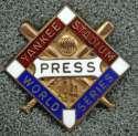 1941 Press Pin  New York Yankees World Series NM