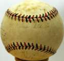 1942 Albany Cardinals  Team Ball w/Red Schoendienst 6 JSA LOA