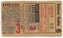 1942 Ticket  World Series Game 3 VG-Ex