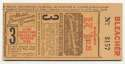 1944 Ticket  World Series Game 3 NM