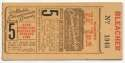 1944 Ticket  World Series Game 5 VG-Ex/Ex