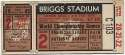 1945 Ticket  World Series Game 2 GVG