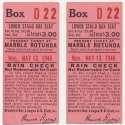 1946 Ticket   Brooklyn Dodgers (5/13/1946) - Matched Pair  Ex-Mt mk