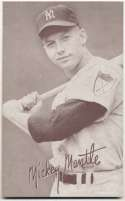 1947 Exhibit 173 Mantle Batting No Pinstripe 1st Name White NM