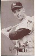 1947 Exhibit 172 Mantle Batting No Pinstripe 1st Name Not White Ex-Mt+