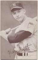 1947 Exhibit 173 Mantle Batting No Pinstripe 1st Name White Ex-Mt+
