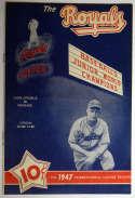 1947 Scorecard  Montreal Royals w/Roy Campanella Ex+