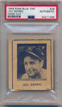 1948 Blue Tint 29 Gehrig PSA Authentic