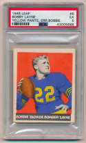 1948 Leaf 6 Layne RC (error, yellow pants) PSA 5