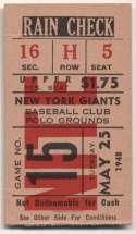 1948 Ticket  NY Giants Home (5/25/48) Good