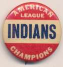 1948 Pin  Cleveland Indians World Series NM