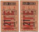 1948 Ticket  NY Giants (6/15/1948) - Matched Pair VG