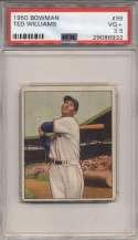 1950 Bowman 98 Ted Williams PSA 3.5